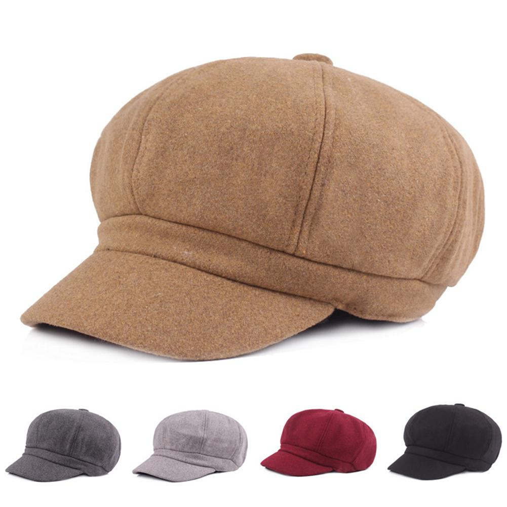Contemplative Women Men Woolen Octagona Peaked Cap Chic Retro Hat Gift Fashion 2018 Autumn New Style As Effectively As A Fairy Does