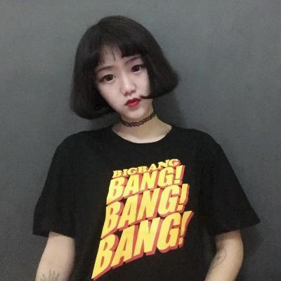 2017夏k,pop bigbangファッションbangbangbangプリントtシャツ女性カップルストリートヒップホップ
