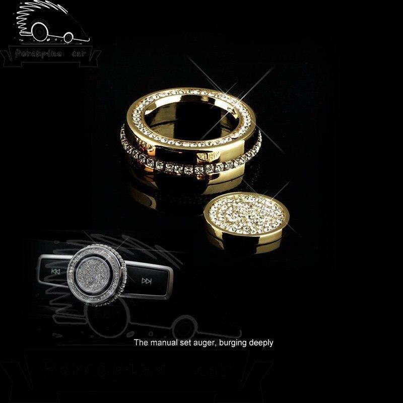 Car CD Sticker Panel Bumper Sound knob diamond Stickers for Mercedes C/E Class GLA/GLK/CLA200 CLS/GLE Class Accessories