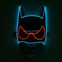 Энергосберегающие поставки EL холодный свет вечерние маска праздник освещение мигает два Цвет Смешанные Украшения маска 3 В