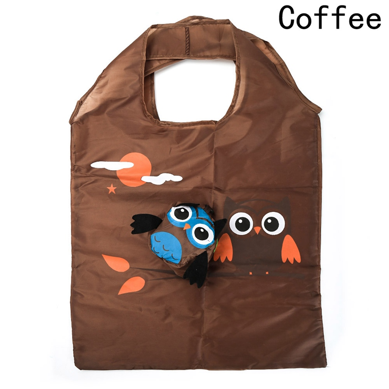 Owl Shape Travel Shoulder Bag Tote Bag Foldable Reusable Eco Friendly Shopping Bag 2018 Cute Animal Portable Ladies Gift ...