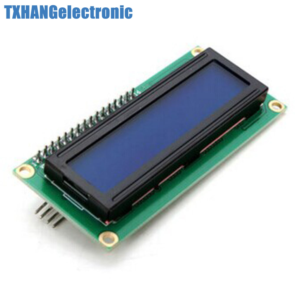 1pcs Blue <font><b>Display</b></font> IIC/I2C/TWI/SPI Serial Interface 1602 <font><b>16X2</b></font> <font><b>LCD</b></font> <font><b>Module</b></font> 1602 <font><b>lcd</b></font> i2c image