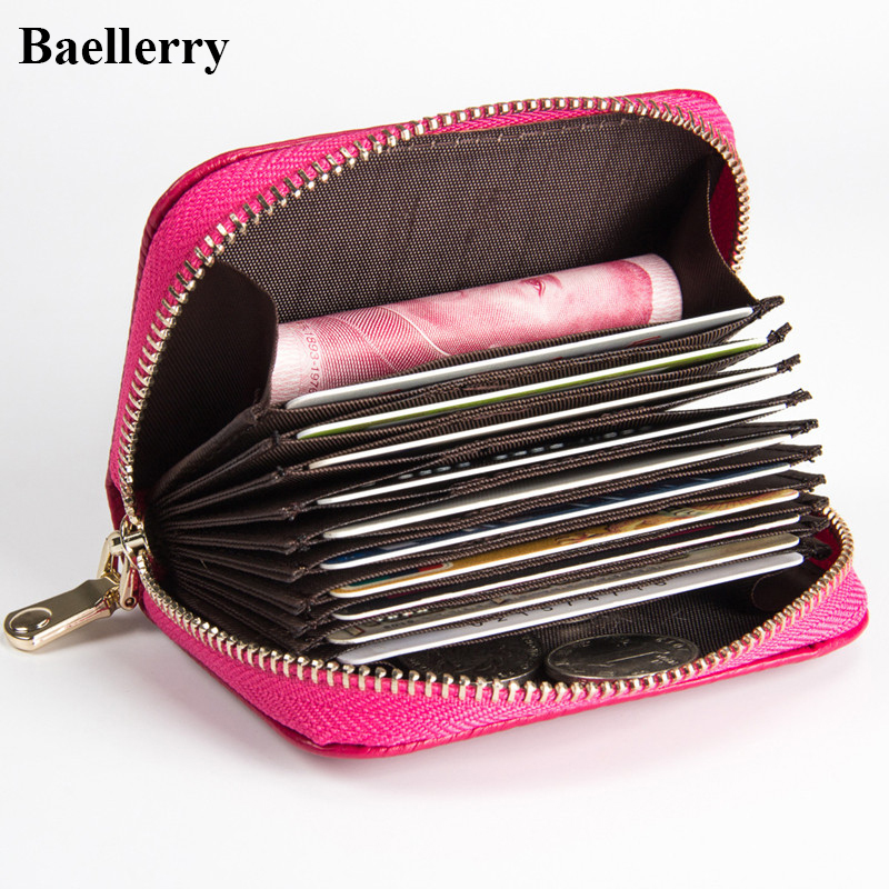 Luxury Brand Leather Wallets Women Casual Purses Ladies Cash Credit Card Holder with Coin Zipper Pocket High Quality ID Holders hot sale leather men s wallets famous brand casual short purses male small wallets cash card holder high quality money bags 2017