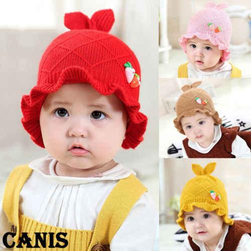 Рождественский Шапки зима теплая вязаная шапка для маленьких из искусственного меха с помпоном Горячее предложение для маленьких девочек макраме милый сладкий Bean росток Hat