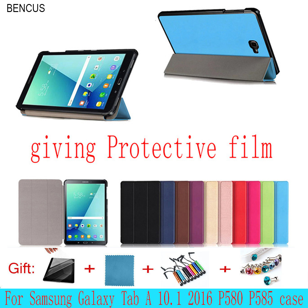 BENCUS For Samsung GALAXY Tab A A6 10.1 P580 Case P585 Cover Magnet Flip PU Leather Case Three Folio Tablet Smart Slim Cover