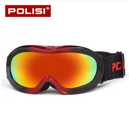 2016 Новинка POLISI UV400 Анти-туман Очки дети сноуборд, лыжный очки защитные двойной анти-туман