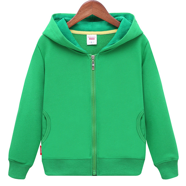 2018 Spring Autumn New fashion Children's Hoodie Sweater Coat Boys Girls High Quality Cotton Solid Sports Leisure Kid Clothes  4