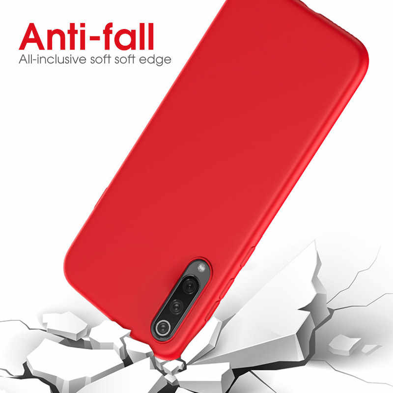 Samsung A50 kılıfı sıvı silikon telefon kılıfı için Samsung Galaxy A50 A70 A30 A40 A60 A20 M40 A51 A71 kapak şeker darbeye dayanıklı