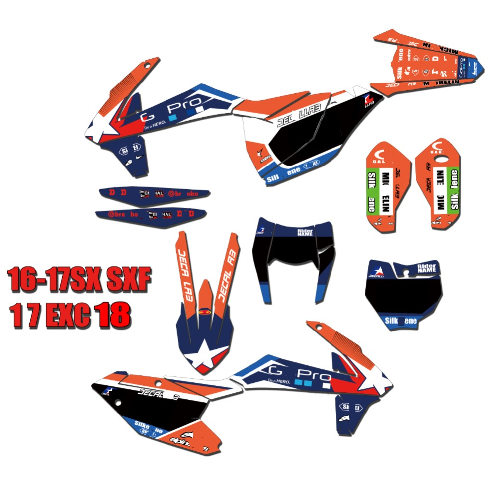 for KTM SX 16 18 Custom GRAPHICS BACKGROUNDS DECALS STICKERS for KTM SX SXF XC XCF