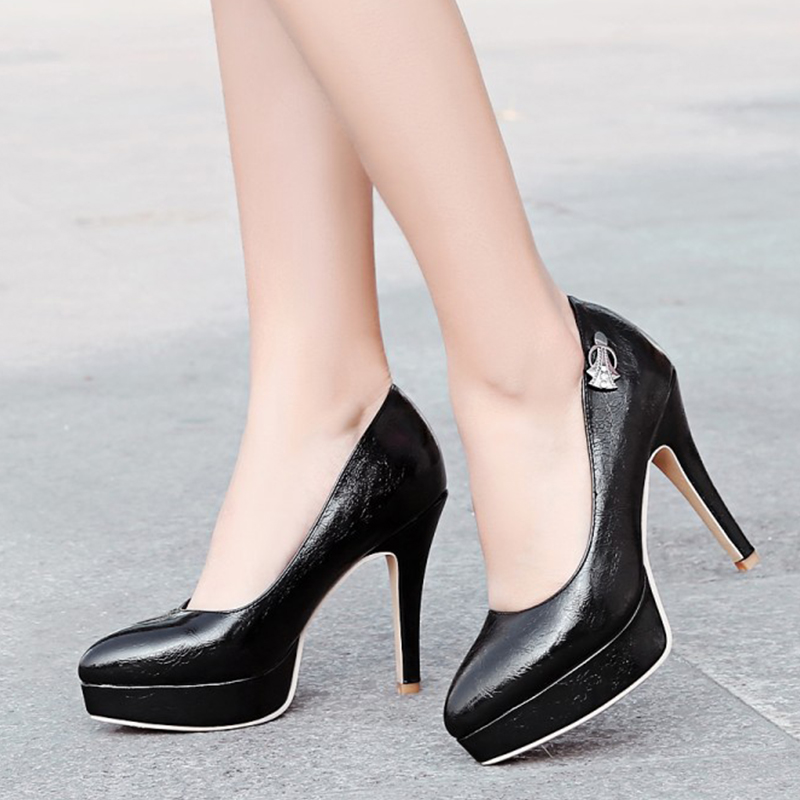 Karinluna 2019 Dropship Big Size 46 Sexy Women Shoes Pumps Stiletto Fashion 11cm High Heels Woman Party Wedding Shoes