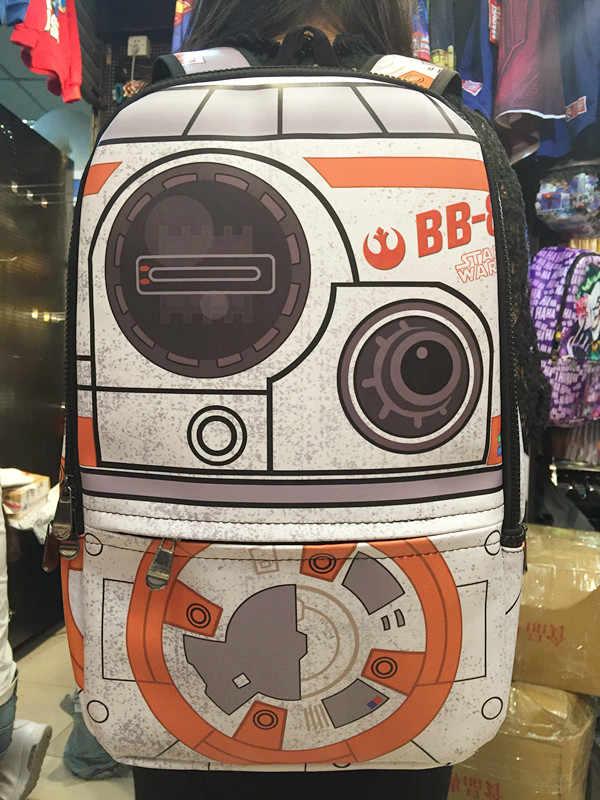 2018 Акция Pu рюкзак с полосками Школа Mochila Escolar Звездные войны Дарт Вейдер пешки Bb-8 Детский рюкзак, сумка и