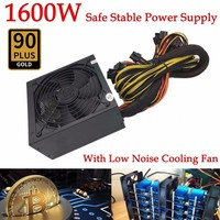 1600W Modular Power Supply For 6 GPU Eth Rig Ethereum Coin Mining Miner 90 Gold High Quality Computer Power Supply For BTC