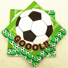 20pcs/set Football Party Supplies cartoon theme paper napkin/tissues/towel baby shower tableware kids birthday party decoration
