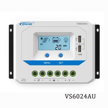 60A VS6024AU 12V 24V EPSolar PWM Solar Panel Charger Battery LCD Backlight 5V Mobile phone charger