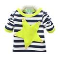 Мальчики одежда весна осень мода детская одежда рубашки девушки мальчика майка в полоску с длинным рукавом футболка новорожденных девочек мальчиков одежда
