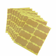 80pcs/lot Simple Blank Kraft Paper 5.7cm Shaped Sealing Sticker For Baking Packaging