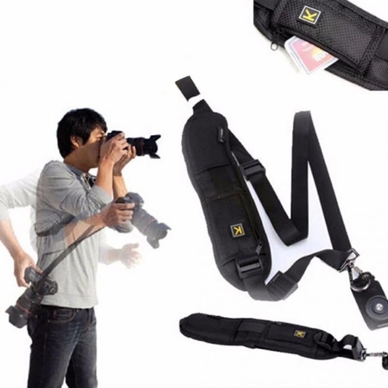 Adjustable Quick Rapid Camera Single Shoulder Black Sling Strap For Canon For Nikon For Sony DSLR Camera