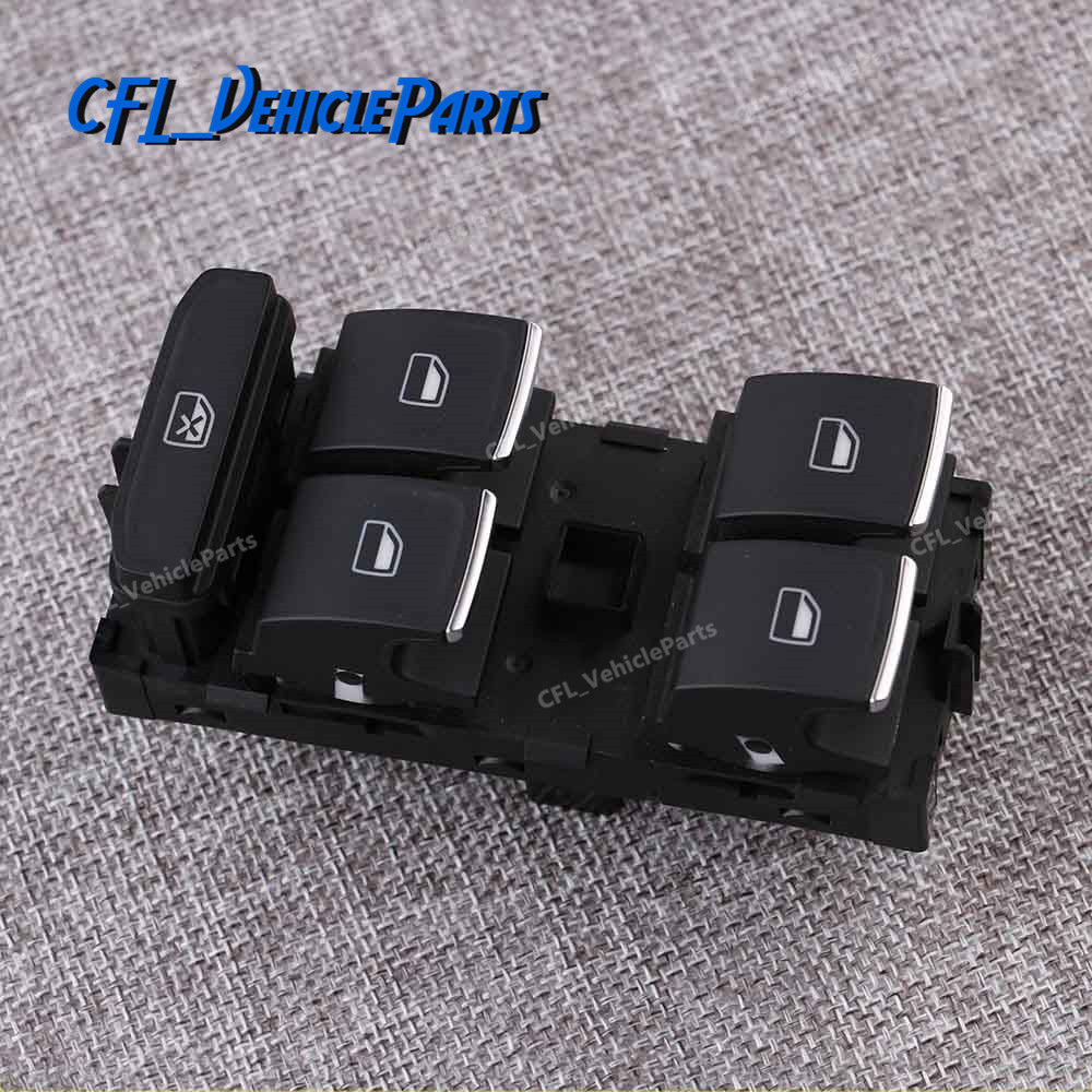 Chrome Driver Side Window Master Control Switch 5GG959857A For VW Golf GTI MK7 2014 2015 2016 2017 image