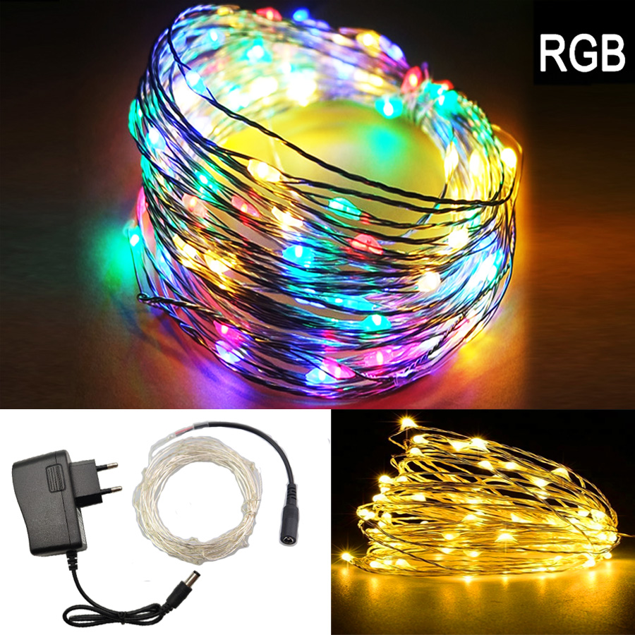 Smart Rgb String Lights 5m 10m 15m 20m Waterproof Led Light Rgb/white/warm Dc 12v Adapter For Wedding Party Christmas Home Decoration Clearance Price