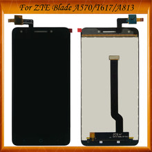 Black White Color 100% Original Tested For ZTE Blade A570 T617 A813 LCD Display + Touch Screen Digitizer Assembly Replacement(China)