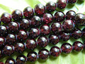 Free shipping (2 strands/set) natural 10mm red garnet smooth round loose beads precious stone