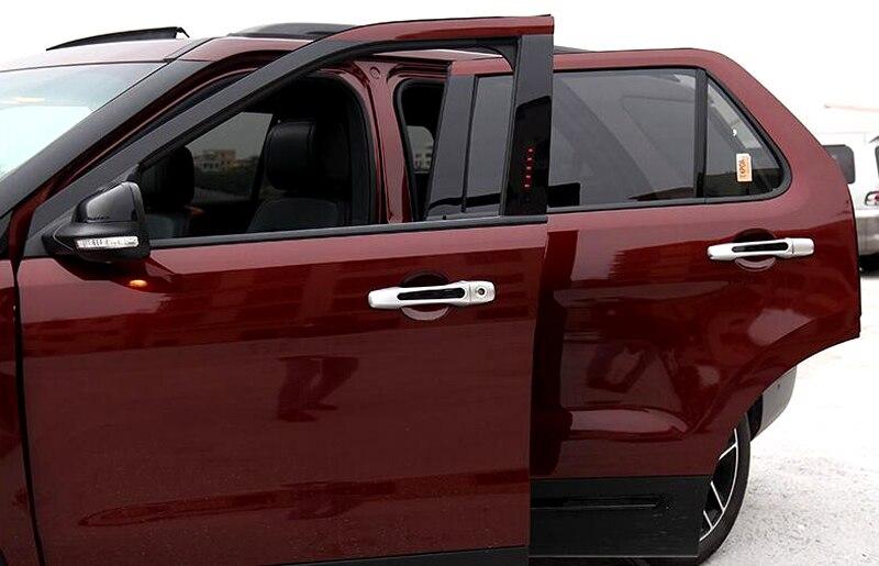 8pcs Matte Chrome Side Door Handle Cover Trim New For Ford Explorer 2016 2015 2014 2013 2012 2011
