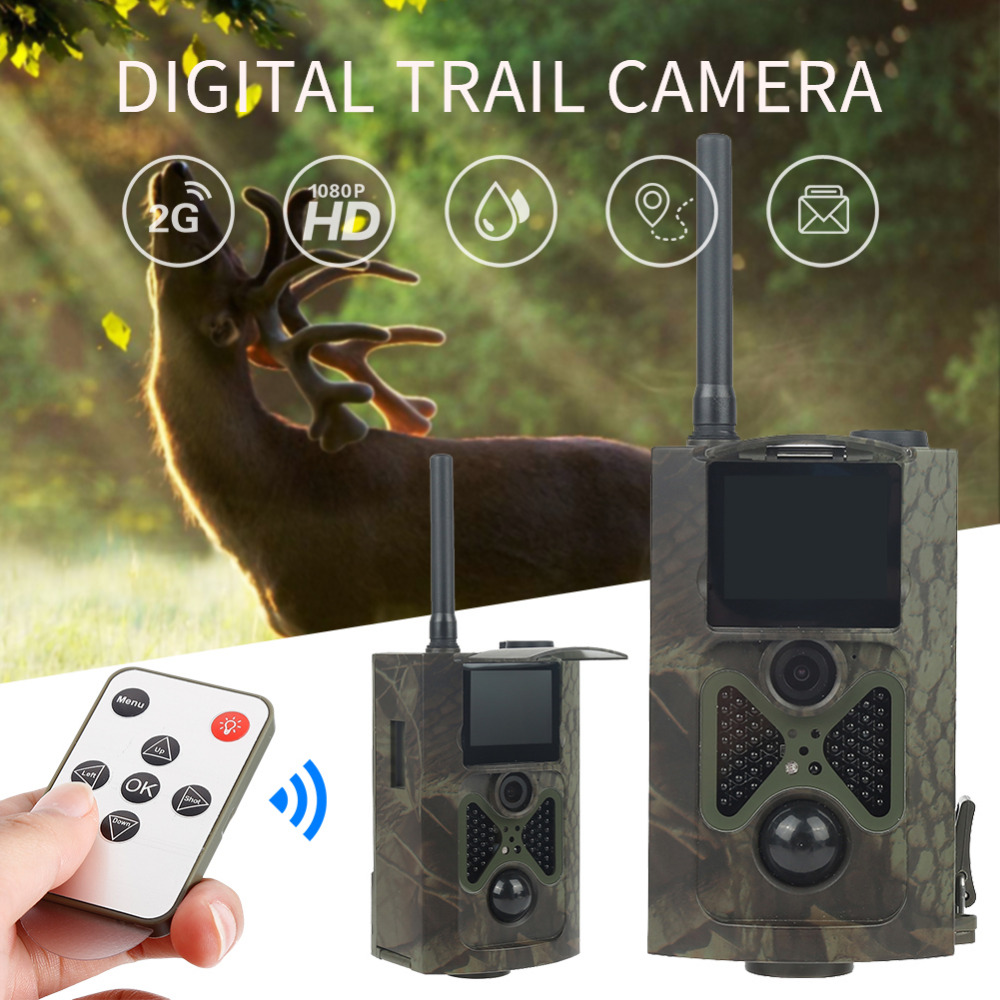 Skatolly Brand 1*HC300M HD Hunting Trail Camera Scouting Infrared Video GPRS GSM 12MP Dropshipping Hunting Cam + Free shipping!