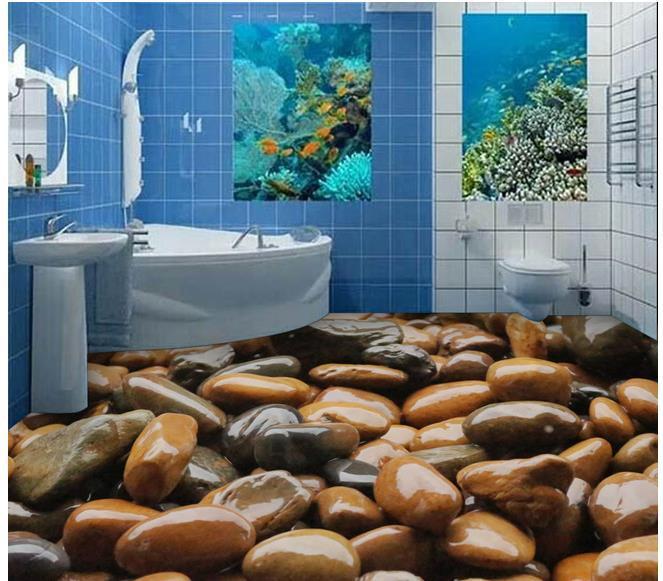 Custom photo floor wallpaper 3d stereoscopic 3d stone for 3d wallpaper for home floor