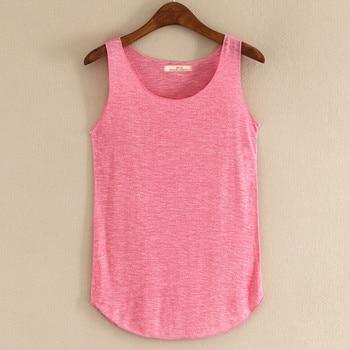 Spring Summer New Tank Tops Women Sleeveless Round Neck Loose T Shirt Ladies Vest Singlets conjuntos casuales para niñas