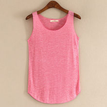 Spring Summer New Tank Tops Women Sleeveless Round Neck Loose T Shirt Ladies Vest Singlets(China)