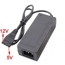 Wholesale price New 12V + 5V 2.5A AC Power Adapter for 4Pin IDE Hard Drive HDD CD-ROM Converter SATA