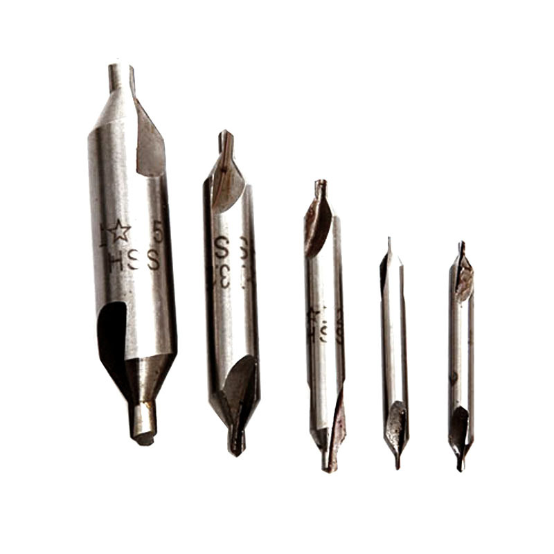 Hot Selling New 5 Pcs HSS Center Drills 60 degree Combined Countersinks Degree Angle Bit Tip Set Tool VE830 hot hss combined center drills countersinks 60 degree angle bit set tool metric 3 0mm