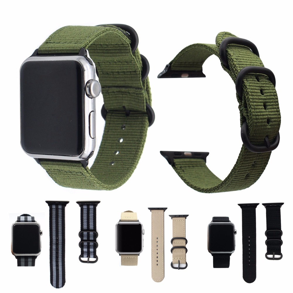 Eastar Hot Sell Nylon Watchband for Apple Watch Band Series 3/2/1 Sport Leather Bracelet 42 mm 38 mm Strap For iwatch Band survival nylon bracelet brown