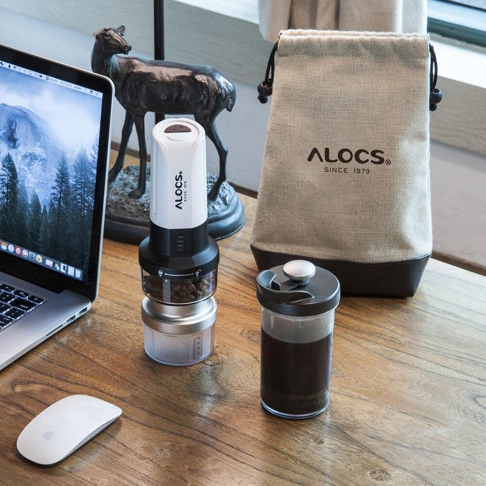 ALOCS KW-K25 Portable moulin à café électrique fabricant français presse bouilloire broyeur avec 6 LED Camping Camp vaisselle extérieure - 6