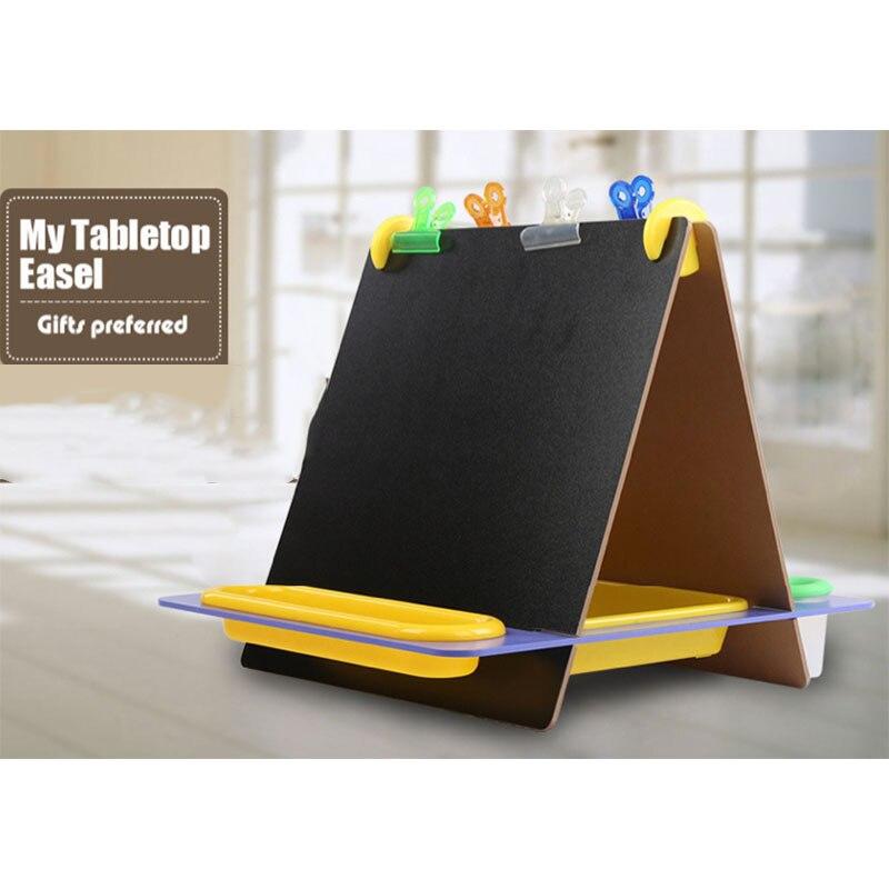 Kreative Mini Multifunktions Kinder Holz Doppel Zeichnung Bord Tafel Tabletop Schreiben Staffelei Lernen Bildung Spielzeug - 4