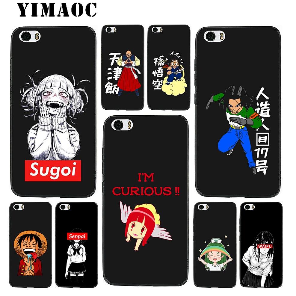 YIMAOC DNZ Anime senpai Waifu Soft Silicone Case for Xiaomi Redmi Note Mi 8 6 A1 A2 4X 4A 5A 5 Plus MiA1 A2 Pro Lite