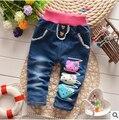 BibiCola весна Высокое качество новорожденных девочек толстый зимний теплые брюки кашемировые дети джинсы брюки детские мальчиков джинсы дети брюки