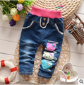 BibiCola sping High quality baby girls thick winter warm trousers cashmere kids jeans pants baby boys jeans children pants