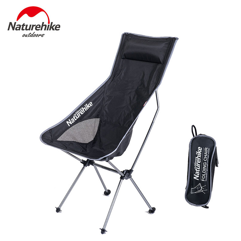 Naturehike Aluminum Fishing Chair Foldable Portable 2 Colors Hiking Picnic Barbecue Beach Vocation Camping Chairs naturehike fishing chair portable folding chair for camping hiking gardening beach barbecue with bag
