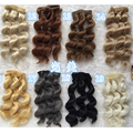 8PCS/LOT 15CM Handmade BJD Hair Accessories Natural Colors Curly Hair For Doll Wig DIY