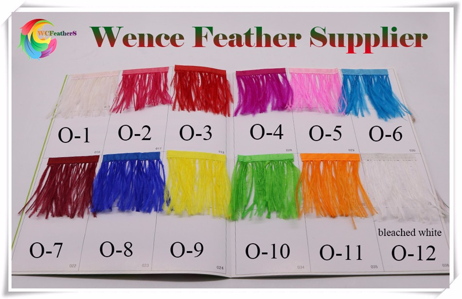 ostrich feather trims color chart 1
