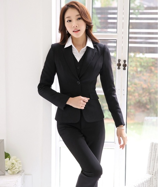 43b7fd8dce9 Formal Uniform Design Professional Autumn Winter Business Suits With Jackets  And Pants Ladies Pantsuits Trousers Sets