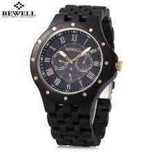 BEWELL Mens Watches Male Business Wood Watch Dress Quartz Watch Waterproof Date Fashion Wristwatch Relojes Masculino Hombre