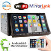 7 Car Stereo Radio Double 2Din GPS WiFi 3G Mirror OBD Link 6 0OS DVD Player