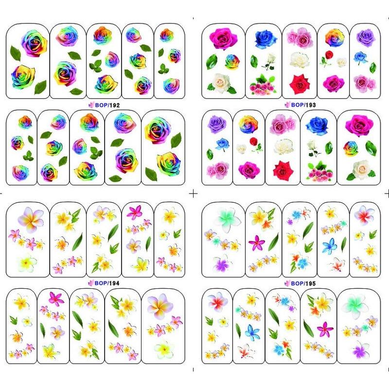 4 PACKS / LOT FLOWER TULIP PETALS ROSE VINE GRASS NAIL