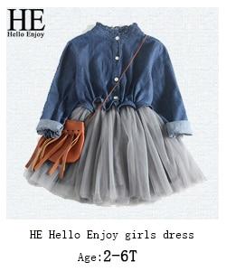 Ele olá desfrutar crianças roupas da menina