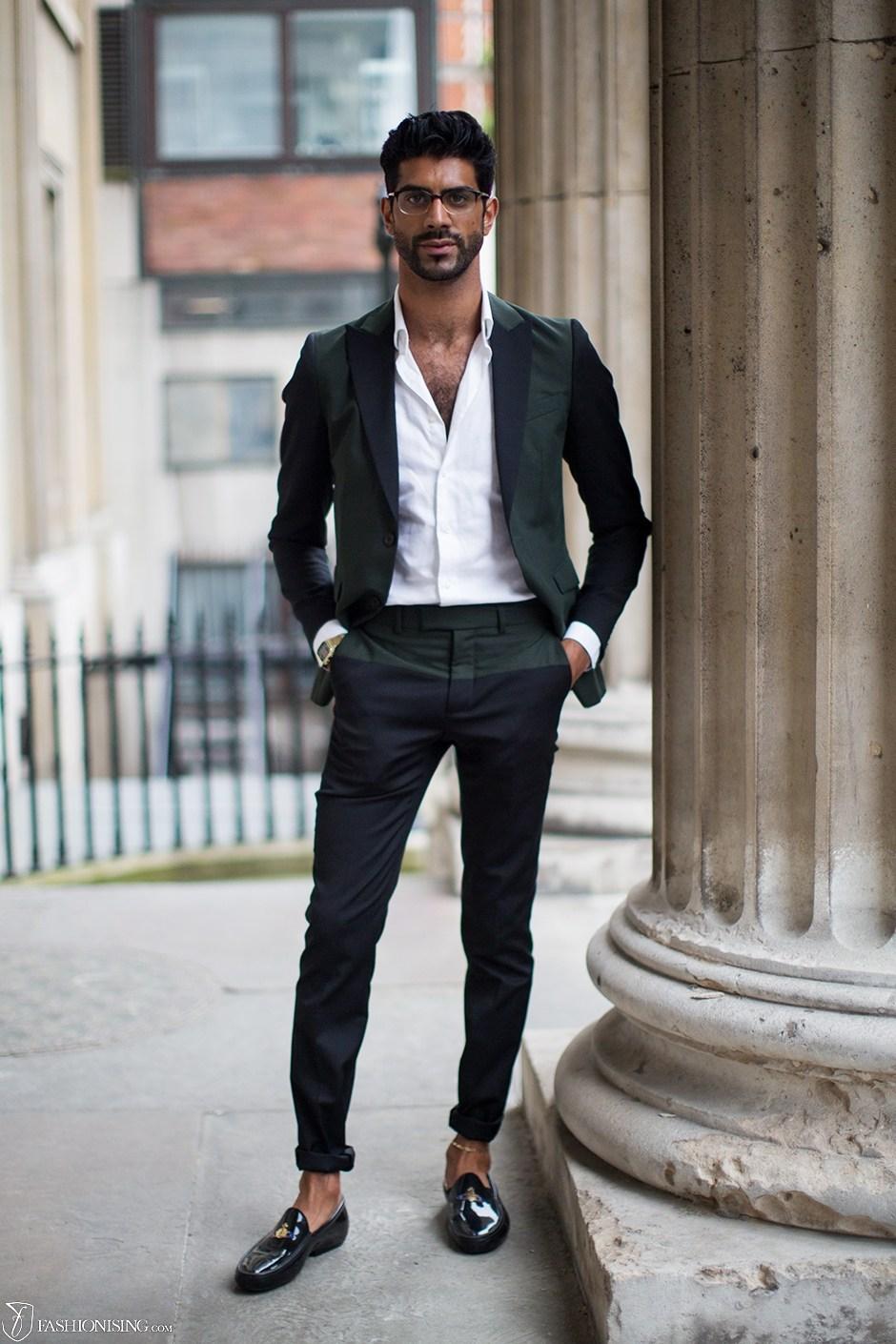 Loafers Men Black Suits