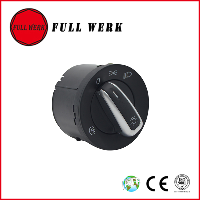 1pc Chrome Auto Car Headlight Switch Fog Light Lamp Switch 5ND 941 431C / 3C8 941 431B for VW Golf MK6 T5 Passat Tiguan