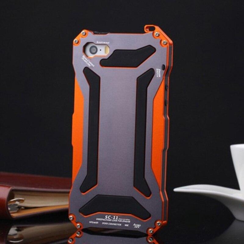 imágenes para A prueba de golpes Teléfono Cubiertas Para el iphone 7 7 S 7G Premium Metal Shell Antidetonantes Caso Hermético Al Polvo Potente NEWOER