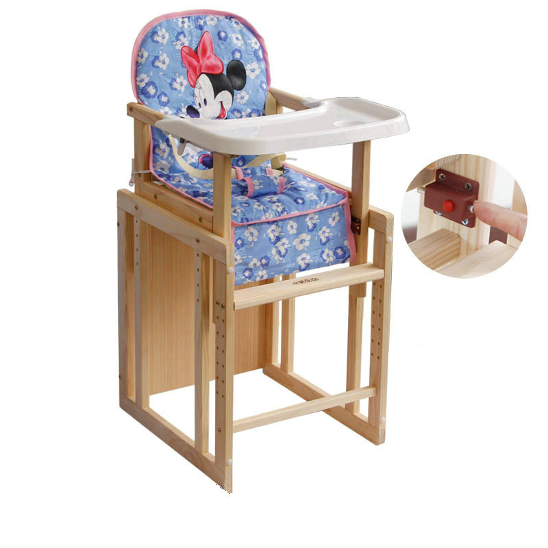 Groovy Us 80 93 29 Off Aliexpress Com Buy 2 In 1 Multifunctional Wood Baby Feed Chair 5 Grade Adjust Seat Height Baby Highchair Pp Material Plate Kids Andrewgaddart Wooden Chair Designs For Living Room Andrewgaddartcom